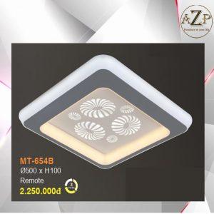 Đèn Ốp Trần Trang Trí LED Nhập Khẩu Dòng Cao Cấp 654 - Có 2 Size & Kèm Remote điều kiển từ xa
