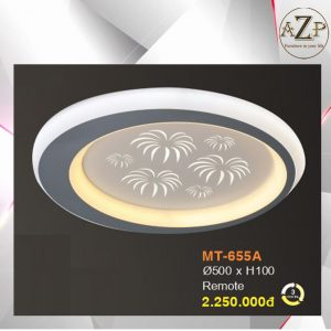 Đèn Ốp Trần Trang Trí LED Nhập Khẩu Dòng Cao Cấp 655 - Có 2 Size & Kèm Remote điều kiển từ xa