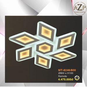 Đèn Ốp Trần Trang Trí LED Nhập Khẩu Dòng Cao Cấp 8246 - Có 2 Size & Kèm Remote điều kiển từ xa