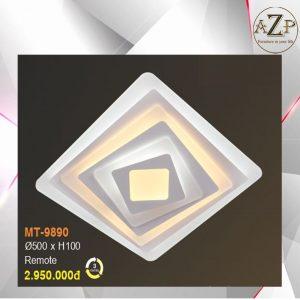 Đèn Ốp Trần Trang Trí LED Nhập Khẩu Dòng Cao Cấp 9890 - Size Rộng 50 cm & Kèm Remote điều kiển từ xa