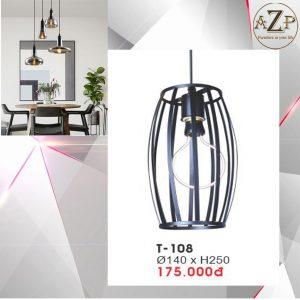 Đèn Thả Trần Trang Trí Nhập Khẩu Dòng Cao Cấp T108 / Size 14x25cm (RxC) - Giá chưa bao gồm Bóng