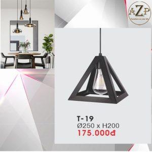 Đèn Thả Trần Trang Trí Nhập Khẩu Dòng Cao Cấp T19 / Size 25x20cm (RxC) - Giá chưa bao gồm Bóng