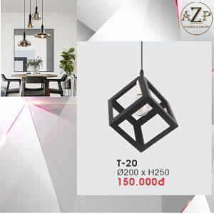 Đèn Thả Trần Trang Trí Nhập Khẩu Dòng Cao Cấp T20 / Size 20x25cm (RxC) - Giá chưa bao gồm Bóng