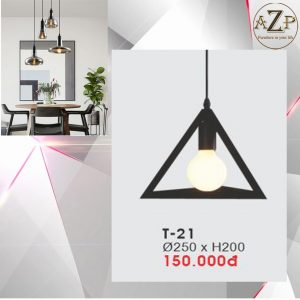 Đèn Thả Trần Trang Trí Nhập Khẩu Dòng Cao Cấp T21 / Size 25x20cm (RxC) - Giá chưa bao gồm Bóng