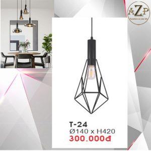 Đèn Thả Trần Trang Trí Nhập Khẩu Dòng Cao Cấp T24 / Size 14x42cm (RxC) - chưa bao gồm Bóng