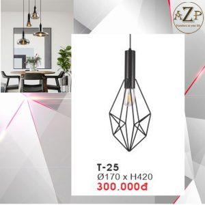 Đèn Thả Trần Trang Trí Nhập Khẩu Dòng Cao Cấp T25 / Size 17x42cm (RxC) - chưa bao gồm Bóng