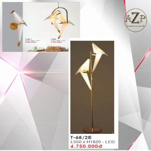 Đèn Đứng Trang Trí Nhập Khẩu Dòng Cao Cấp 68 LED Hình Chim - Rộng 550mm x Cao 1.82m (Bộ đèn 2 con Chim)
