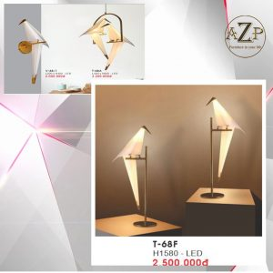 Đèn Đứng Trang Trí Nhập Khẩu Dòng Cao Cấp 68F LED Hình Chim - Cao 1.58m (Bộ đèn 1 con Chim)
