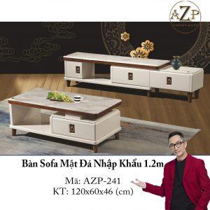 Bàn Sofa Mặt Đá Size 1.2m / 1 Ngăn Kéo / Dòng Cao Cấp - Hàng Nhập Khẩu AZP-T241-12