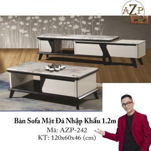Bàn Sofa Mặt Đá Size 1.2m / 1 Ngăn Kéo / Dòng Cao Cấp - Hàng Nhập Khẩu AZP-T242-12