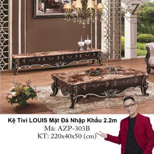 Kệ Tivi Tivi LOUIS Mặt đá AZP-TV303B Size 2.2m / 4 Ngăn Kéo / Dòng Cao Cấp - Hàng Nhập Khẩu
