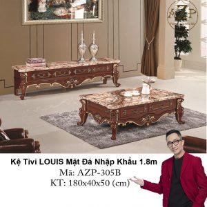 Kệ Tivi LOUIS Mặt đá AZP-TV305B Size 1.8m / 4 Ngăn Kéo / Dòng Cao Cấp - Hàng Nhập Khẩu