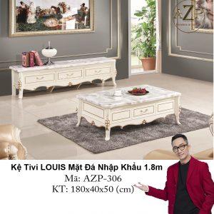 Kệ Tivi LOUIS Mặt đá AZP-TV306 Size 1.8m / 3 Ngăn Kéo / Dòng Cao Cấp - Hàng Nhập Khẩu